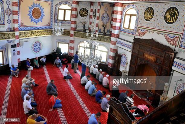 Muslims offer prayer during Ramadan in Kosovo