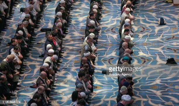 Muslims perform a mass prayer to mark Mawlid alNabi at Camlica Mosque in Turkey Turkey on November 08 2019