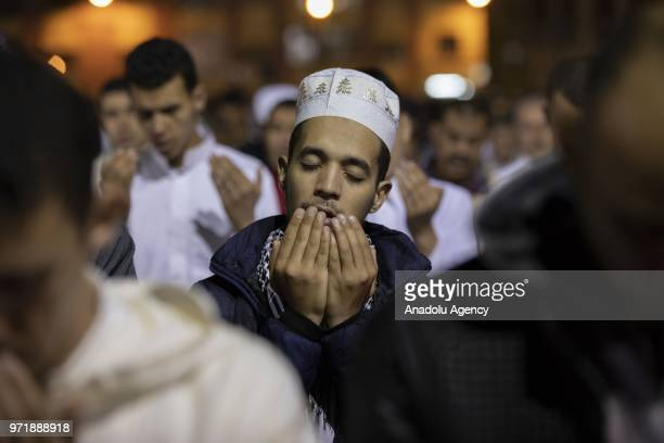 Muslims perform a prayer on the Laylat alQadr which means Night of Power when the first verses of the Qur'an were revealed to the Prophet Muhammad...