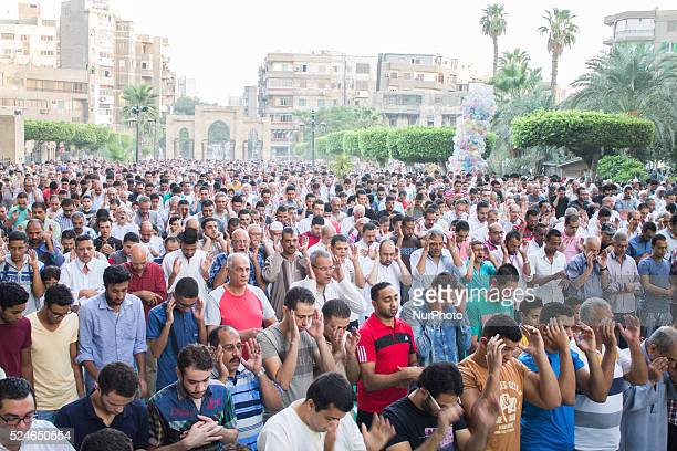 Muslims perform Salat al Eid prayers during the first day of the Eid Al Adha in Cairo Egypt on September 24 2015 Eid alAdha prayers began at 600 GMT...