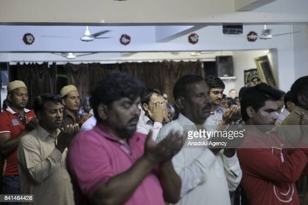 Muslims perform the Eid AlAdha prayer in Athens Greece on September 01 2017 Muslims communities in Italy launched a message on the occasion of the...