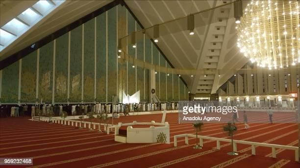 Muslims perform the first 'Tarawih' prayer on the eve of the Islamic Holy month of Ramadan at the Faisal Mosque in Islamabad Pakistan on May 16 2018