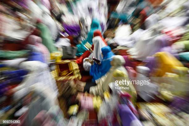 Muslims perform the first 'Tarawih' prayer on the eve of the Islamic holy month of Ramadan at Istiqlal Mosque in Jakarta Indonesia on May 16 2018