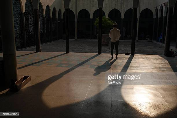 Muslims pray at Baitul Mokarram Mosque during the one of five holy nights of the Muslim's holy ShabeBarat the night of fortune and forgiveness in...