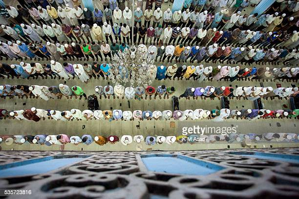 Muslims pray during a special night prayer at the National Mosque of Bangladesh to mark ShabeBarat or 'night of forgiveness' in Dhaka Bangladesh May...