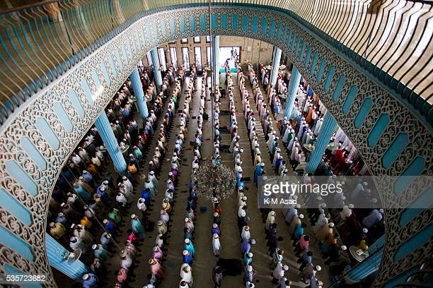 Muslims pray during a special prayer at the National Mosque of Bangladesh to mark ShabeBarat or 'night of forgiveness' in Dhaka Bangladesh May 22...