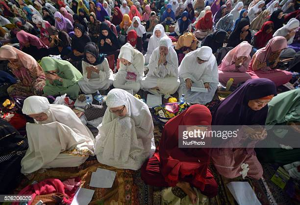 Muslims pray in the National Dhikr 2015 in Masjid AtTin Taman Mini Indonesia Indah In December 2015 National Dhikr become one of alternative...