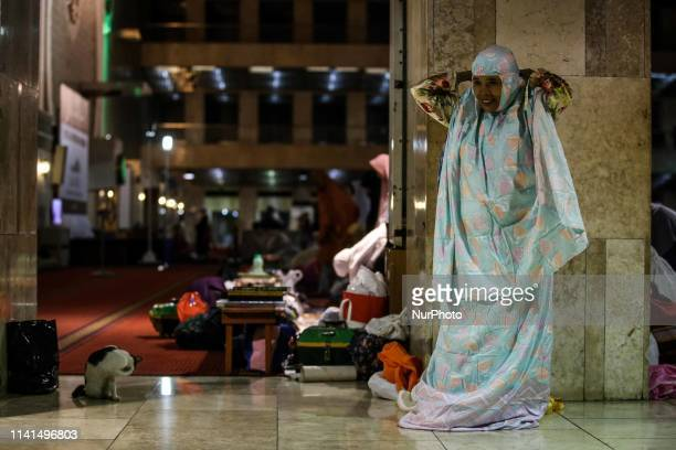 Muslims pray on the first day of the holy month of Ramadan at Istiqlal Mosque in Jakarta Indonesia on 5 May 2019