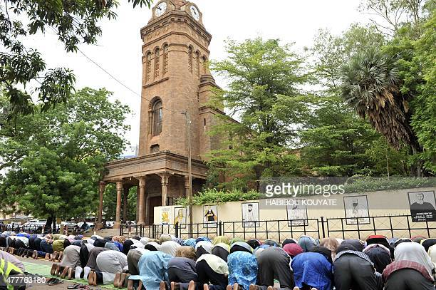 Muslims pray outside the Cathedral of Bamako during Friday prayers on June 19 the first Friday of the holy month of RamadanTens of millions across...