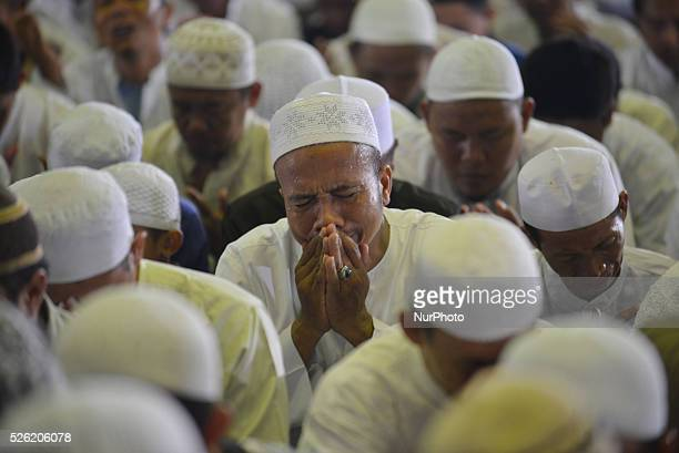 Muslims pray with wisdom in the National Dhikr 2015 in Masjid AtTin Taman Mini Indonesia Indah In December 2015 National Dhikr become one of...