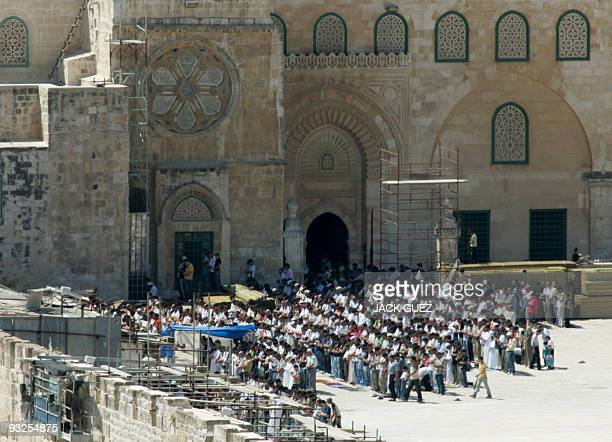 Muslims take part in prayers on the first Friday the holy month of Ramadan in the alAqsa Mosque Compound Islam's thirds holiest site in annexed east...