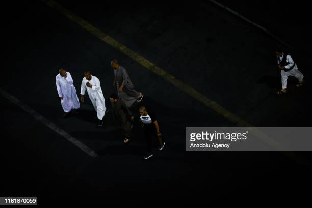 Muslims visit Masjid alNabawi after completing the hajj pilgrimage in Medina Saudi Arabia on August 16 2018 After completing the pilgrimage in Mecca...