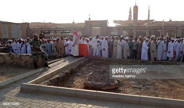 Muslims visit the AlBaqi Cemetery also known as Jannatul Baqi where Prophet Mohammad's relatives and companions' tombs are located in Medina Saudi...