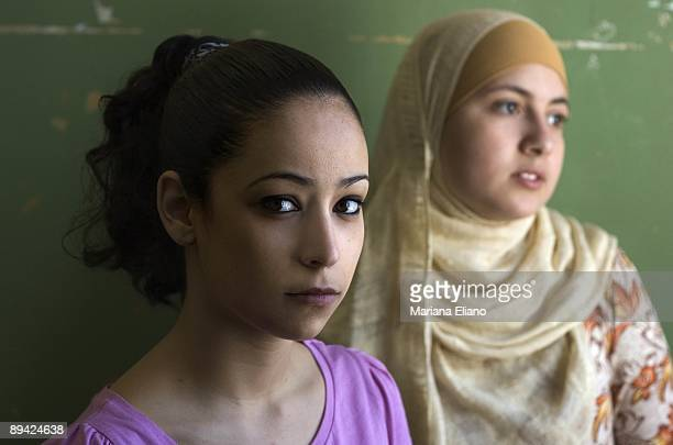 Muslims women in Spain Young muslims women with veil