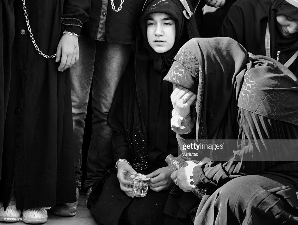 Muslims worldwide marks Ashura Istanbul Shiite community. : Stock Photo