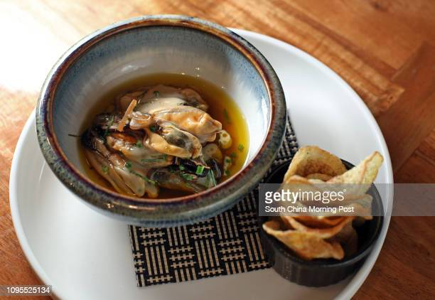 Mussel escabeche with potato chip / beer mayonnaise at Saam Food and Drinks 51 Graham Street Central 05MAR15 [19MARCH2015 FOOD REVIEW 2 48HRS]