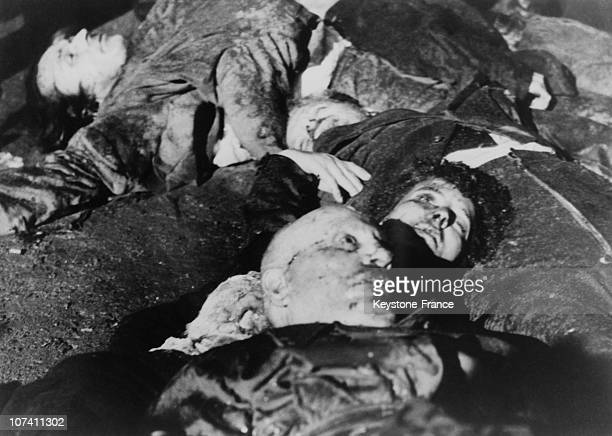Mussolini And His Lover Clara Petacci After The Execution At Milan In Italy In The Forties