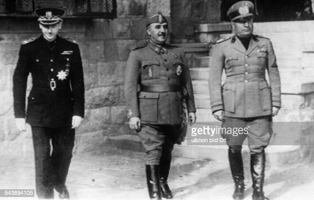 Mussolini Benito Politician Italy*29071883 from the right Mussolini General Francisco Franco and Ramon Serrano Suner in Bordighera Photographer...