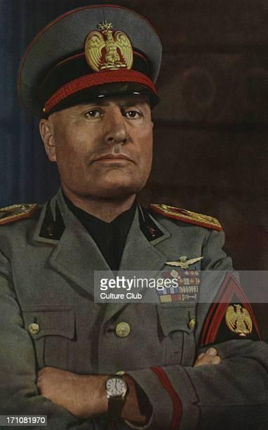 Mussolini 'L'homme d'Etat' From Signal December 1940 French language news magazine published by Nazis 'Avec un calme parfait et un sureté de vues qui...