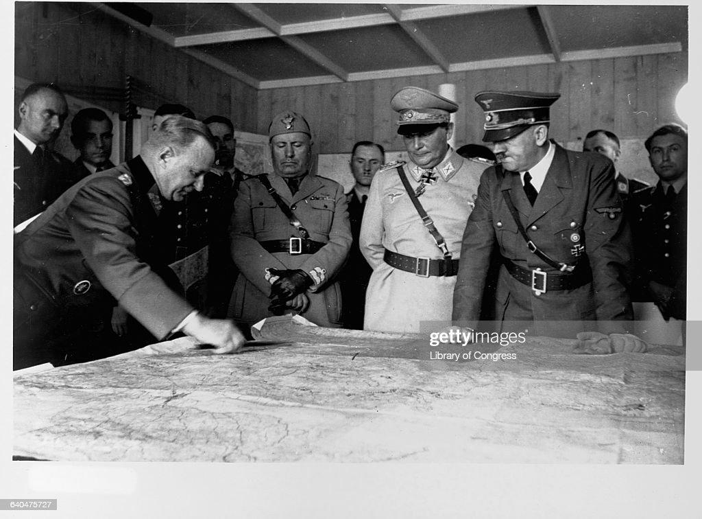 Mussolini Visits OKH Mauerwald Headquarters