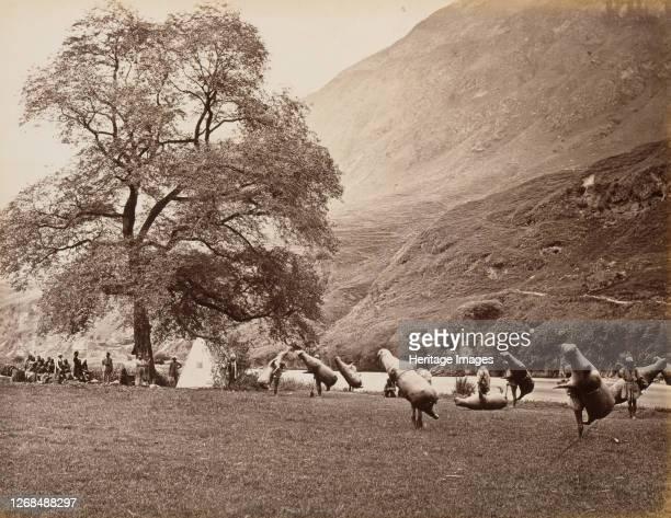 Mussucks for Crossing the Beas River Below Bajoura 1866 Artist Samuel Bourne