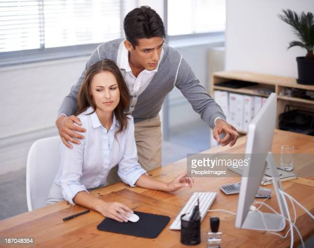 must his hand be there? - sexual harassment stock pictures, royalty-free photos & images