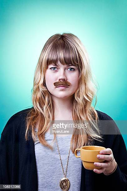 Mustache Beauty Girls