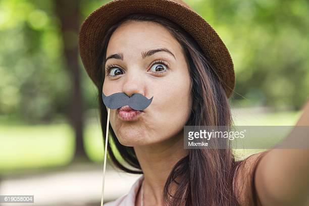 Schnurrbart selfie
