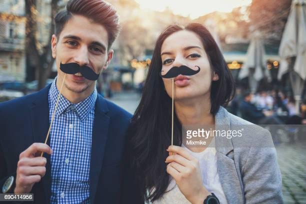 Mustaches portrait