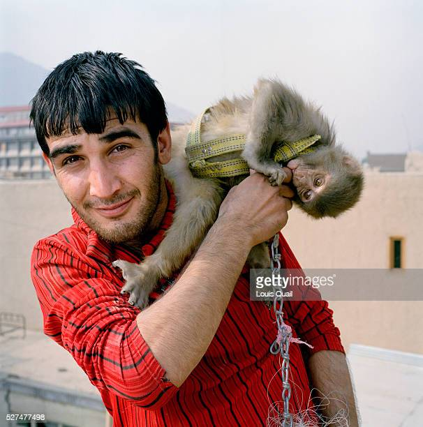 Mustafa is a laborer on the Turquoise Mountain project rebuilding the old town centre Murad Khane He is single and lives with his parents His monkey...