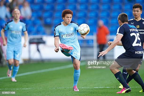Mustafa Amini of Randers FC in action during the Danish Alka Superliga match between Randers FC and Hobro IK at BioNutria Park Randers on May 07 2016...