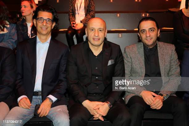 Mustafa Gultepe and guests attend the MercedesBenz Fashion Week Istanbul March 2019 at Zorlu Center on March 20 2019 in Istanbul Turkey