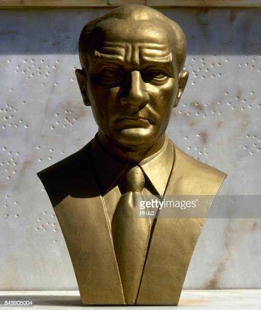 Mustafa Kemal Ataturk Turkish army officer revolutionary and founder of the Republic of Turkey Sculpture in a monument dedicated to Ataturk Antalya...