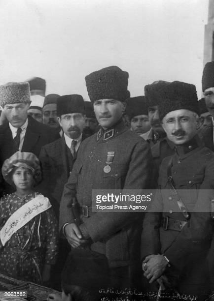 Mustafa Kemal Ataturk Turkish general and statesman and Rafet Pasha