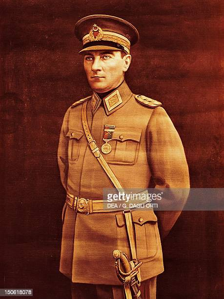 Mustafa Kemal known as Ataturk in the uniform of a sergeant of the army Turkey 20th century