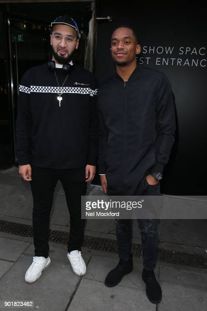 Mustafa Rahimtulla and Jamal Shurland of RakSu attend the What We Wear Show at BFC Show Space during London Fashion Week Men's January 2018 on...