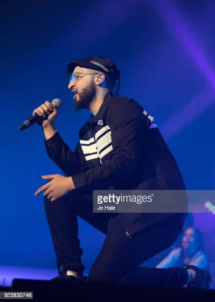 Mustafa Rahimtulla of RakSu performs on stage at X Factor Live Tour at SSE Arena on February 24 2018 in London England