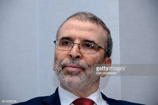 Mustafa Sanalla Chairman of the National Oil Corporation of Libya poses for a photograph ahead of an interview during the 18th International Oil...