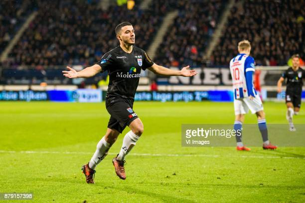 Mustafa Saymak of PEC Zwolle Martin Odegaard of sc Heerenveen during the Dutch Eredivisie match between sc Heerenveen and PEC Zwolle at Abe Lenstra...