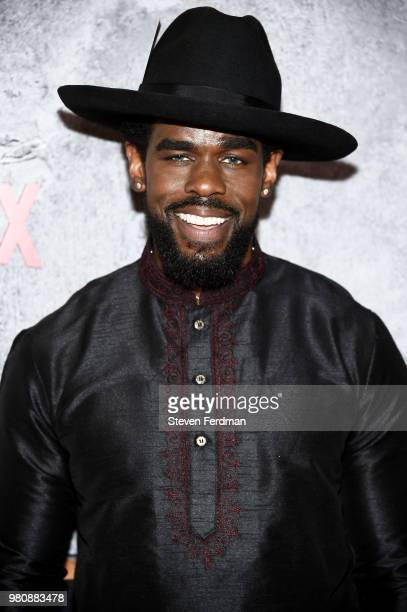 Mustafa Shakir attends the 'Luke Cage' Season 2 premiere at The Edison Ballroom on June 21 2018 in New York City