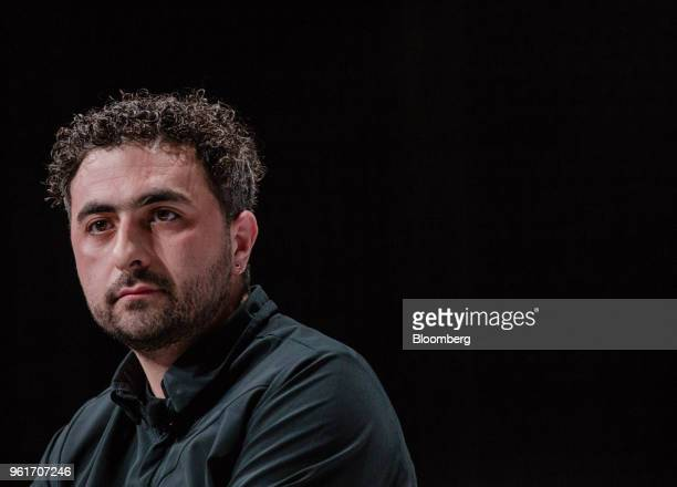 Mustafa Suleyman cofounder and head of artificial intelligence at DeepMind Technologies Ltd pauses during Bloomberg's Sooner Than You Think...