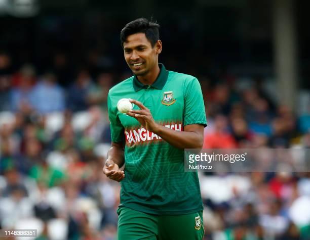 Mustafizur Rahman of Bangladesh during ICC Cricket World Cup between Bangladesh and New Zealand at the Oval Stadium on 05 June 2019 in London,...