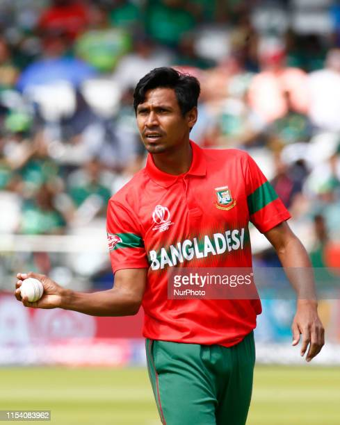Mustafizur Rahman of Bangladesh during ICC Cricket World Cup between Pakinstan and Bangladesh at the Lord's Ground on 05 July 2019 in London, England.