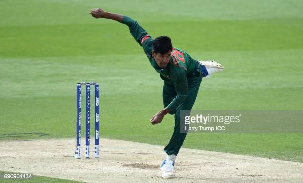 Mustafizur Rahman of Bangladesh during the ICC Champions Trophy Warmup match between India and Bangladesh at the Kia Oval on May 30 2017 in London...