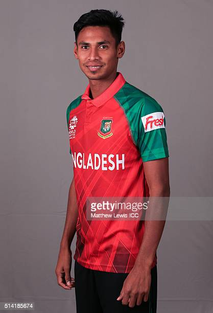 Mustafizur Rahman of Bangladesh pictured during a Headshot session ahead of the ICC Twenty20 World Cup on March 7 2016 in Dharamsala India