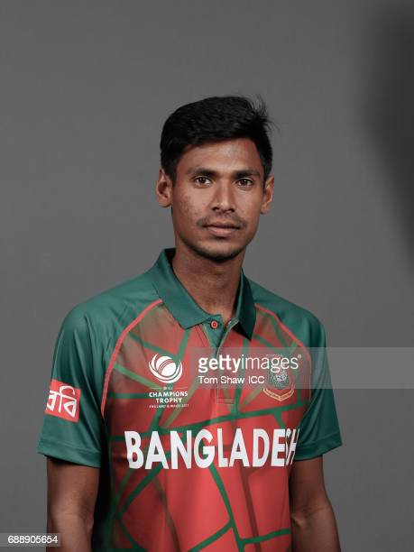 Mustafizur Rahman of Bangladesh poses for a picture during the Bangladesh Portrait Session for the ICC Champions Trophy at Grand Hyatt on May 26 2017...