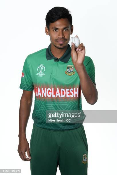 Mustafizur Rahman of Bangladesh poses for a portrait prior to the ICC Cricket World Cup 2019 at the Park Plaza Hotel on May 25, 2019 in Cardiff,...