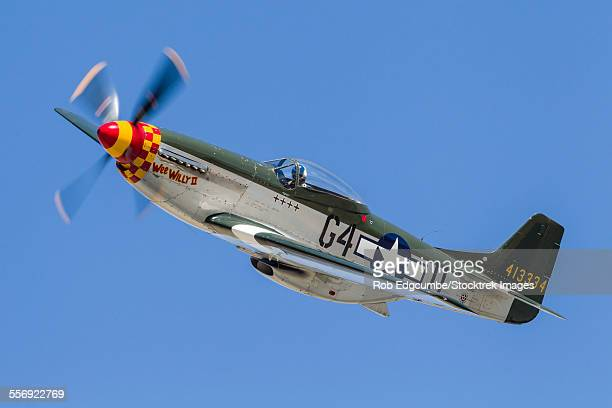 a p-51 mustang flies by at stead field, nevada. - p 51 mustang stock photos and pictures