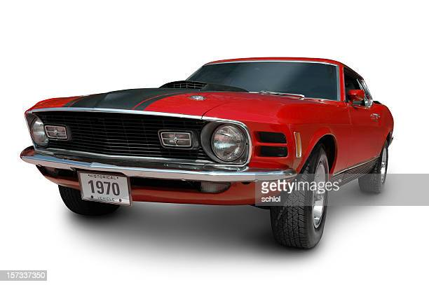 mustang mach1 - 1970 - hot rod car stock photos and pictures