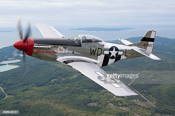 p-51d mustang - p 51 mustang stock photos and pictures
